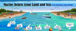 Marine Debris from Land to Sea: In The Environment a Long Time (Poster)