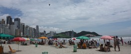 Turistas elogiam o Praia Limpa