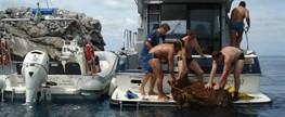 Parque Estadual Xixová-Japuí realiza retirada de materiais de pesca perdidos no mar
