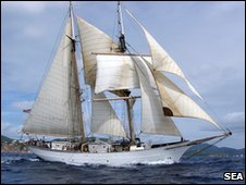 The SSV Corwith Cramer is involved in the plastics research