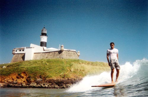Bernardo Mussi at Farol da Barra. Photo: José Augusto