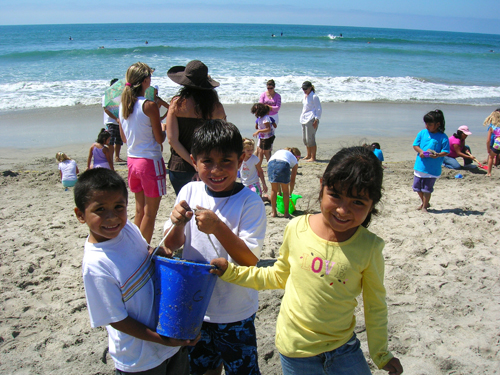 Kids on the beach. Photo: Arlene Gnade