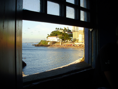 Da janela do Forte